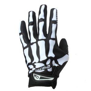 Motorcycle Racing Biker Full Finger Gloves Skeleton Skull Bone