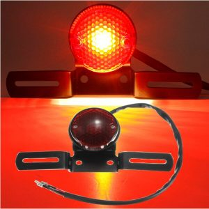 Motorcycle LED Round Tail Light For Harley Turn Signal Lamp 12V
