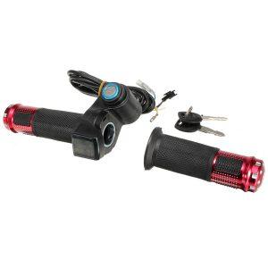 12V-84V 24V 36V 48V Scooter EBike Electric Throttle Grip Handlebar With LED Digital Meter