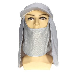 Motorcycle Hiking Mesh Snap Face Neck Cover Flap Hat Cap