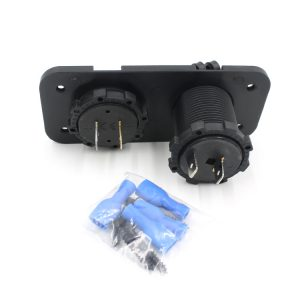 Motorcycle Ignitor Power Socket With DC 12V Digital Voltmeter