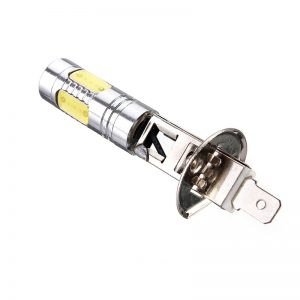 1PCS H1 7.5W COB LED Car Fog Lights DRL Daytime Driving Lamp Bulb with Lens White