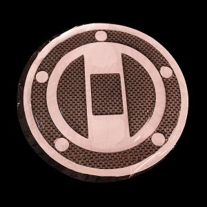Carbon Fiber Fuel Tank Motorcycle Gas Cap Cover Pad For Honda Suzuki