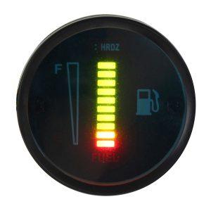 12V LED Fuel Level Meter Gauge Aluminum Alloy For Motorcycle Car Automobile