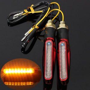 4pcs 9LEDs Universal Motorcycle Turn Signal Indicators Light Lamp