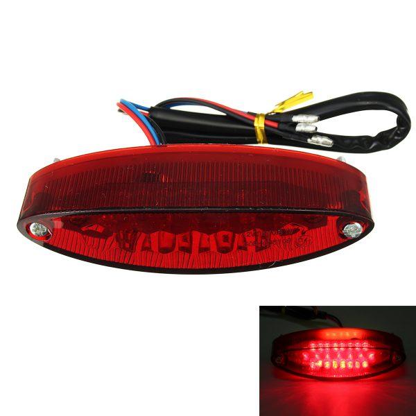 12V Motorcycle 28 LED Rear Brake Tail License Plate Light Red Lamp Universal
