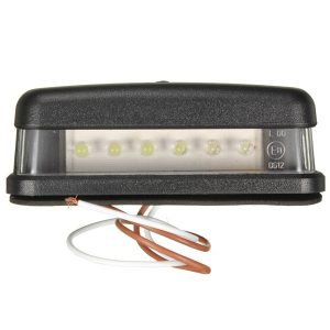 10-30V 6Led White License Number Plate Lights Truck Tail Trailer Lamp