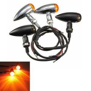 Motorcycle Bullet Turn Signal Indicator Light Lamp For Harley Chopper