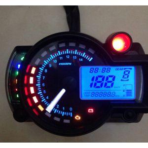 Adjustable Motorcycle Digital Speedometer LCD Digital Odometer