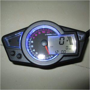 12V Motorcycle LCD Digital Odometer Speedometer Waterproof Universal