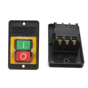 AC 220V/380V 10A Waterproof ON/OFF Push Button Drill Switch Motor For KAO-5