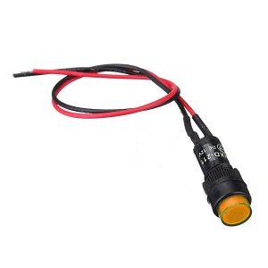 10X10mm Universal LED Indicator Dash Panel Warning Light Lamp