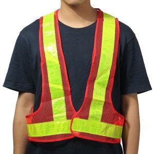 2pcs Orange&Yellow Reflective Vest High Visibility Warning Safety Gear