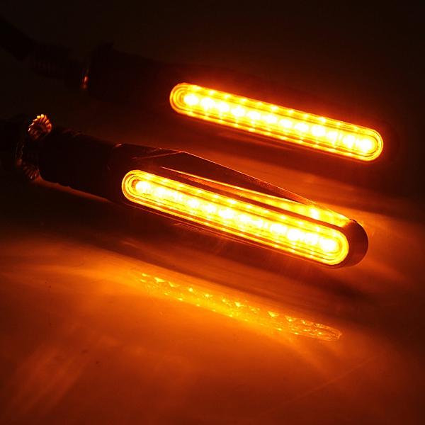 4pcs Red Motorcycle LED Turn Signal Indicator Blinkers Amber Light