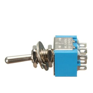 6 Pins 3 Position 3A 250V/6A 120V ON/OFF/ON Toggle Switch