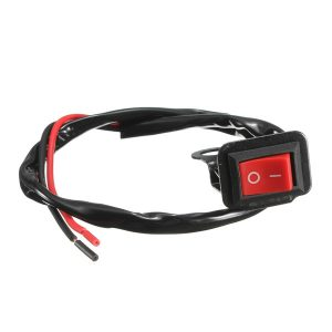 Motorcycle ATV Quad Bike Headlight On/Off Switch Rear View Mirror Wire