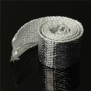 1m Chrome Exhaust Thermal Heat Wrap Tailpipes Down Pipe Kit Car Motorcycle