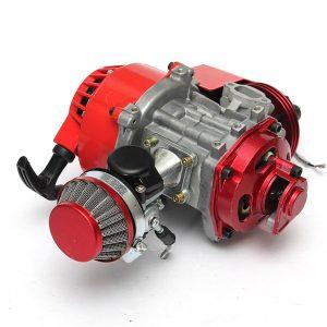 49cc Manual Racing Engine Red Mini Pocket Mini Moto Air Cooled ATV Dirt Bike