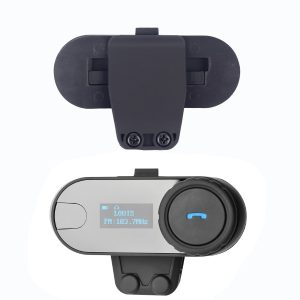 T-COM 800M LCD Display Motorcycle Helmet Intercom Stereo Headset With bluetooth FM MP3 Function