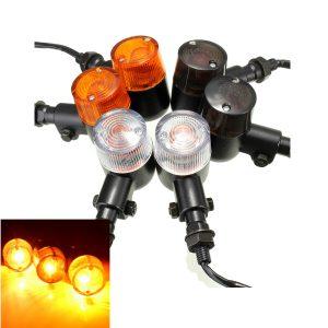 12V Alloy Motorcycle Turn Signal Indicators Amber Light E11/DOT/SAE