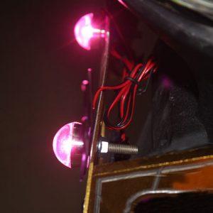 12V Motorcycle LED License Plate Light Brake Strobe Flash Tail Decoration Flashlight