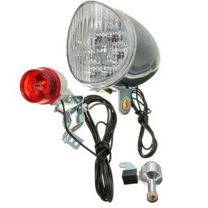Motorized Bike Friction Power Generator Generation Dynamo Rear Tail Light Kit