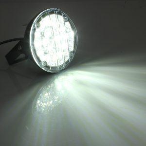 12V 18LED White Round Car Driving Daytime Running Light Fog Light