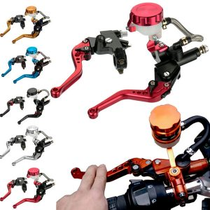 7/8 Inch Motorcycle Front Brakes Master Cylinders Adjust Levers For Suzuki