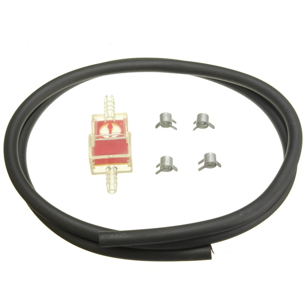 6mm Fuel Filter Petrol Pipe Hose Line With 4 Clips Universal For Motorcycle Scooter