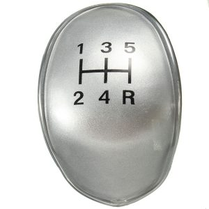 5 Speed Gear Stick Shift Knob Cap Cover Black/Chrome Replacement For Ford Fiesta Focus