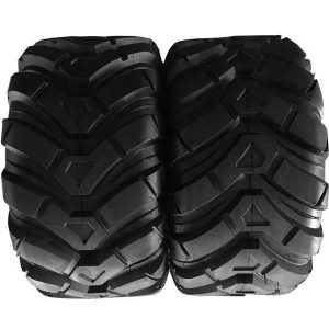 25×10-12 black Fits ATV millionparts 8.5inch rubber pair of Tubeless Tires