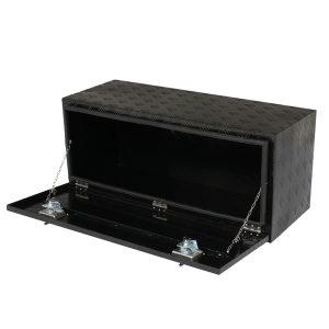 42 Inch Aluminum Under Body Toolbox 5 Bar Tread Black