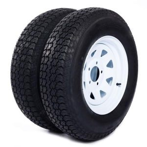 2x TL P811 Tires & Rims 530-12 4 Ply 5 lugs on 4.5 Inch Center 4 Inch Front, Rear tires