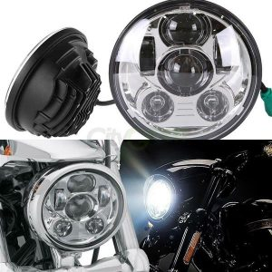 5.75 Inch 45W 6500-7000K White Light IP67 Waterproof LED Headlight for Motorcycles