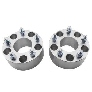 2pcs Professional Hub Centric Wheel Adapters for Cadillac Buick Chevrolet GMC Pontiac Silver