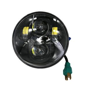5.75 Inch 40W 8-LED 6000K White Light IP67 Waterproof LED Headlight for Vehicles Black