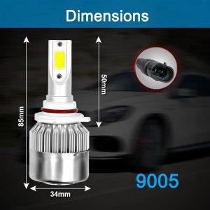 1 Pair 9005 Headlight Coversion LED Bulb Kit High Beam for 1997-2001 Lexus GS300