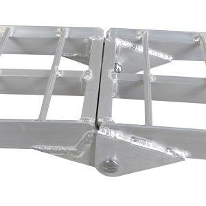 7.5ft Heavy Duty Three-section Aluminum Arched ATV UTV Ramp Silver