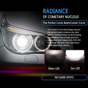 1 Pair H11 Headlight Coversion LED Bulb Kit Low Beam White for 2011 Kia Sorento