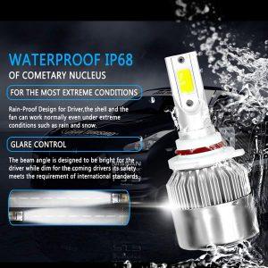 1 Pair 9006 Headlight Coversion LED Bulb Kit Low Beam For 1996-1998 BMW 328i
