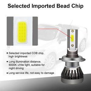 1 Pair H7 Headlight Coversion LED Bulb Kit High Beam for 2007-2009 Benz CLK550