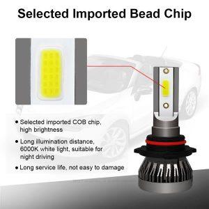 1 Pair 9006 Headlight Coversion LED Bulb Kit Low Beam for 1988 Chevrolet R20