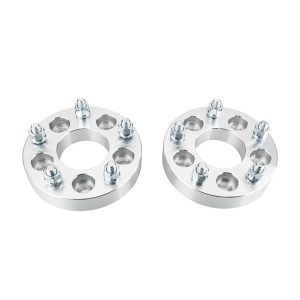 2pcs Professional Hub Centric Wheel Adapters for Ford 1986-2014 Jeep 1986-2014 Silver
