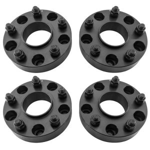 2pcs Professional Hub Centric Wheel Adapters for Dodge Ram 2002-2011 Black