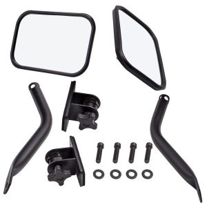 1 Pair Doors Off Side View Mirrors Fit for Jeep Wrangler JK 2007-2018 TJ 1997-2016