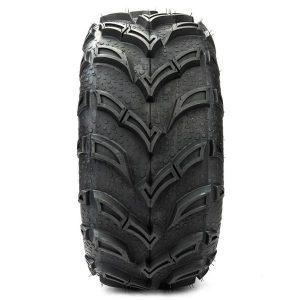 25×10-12 6PR P377 PSI 14 with Black ATV/UTV Rear Tires 1pcs