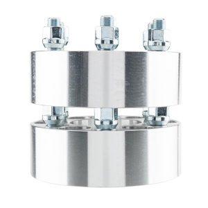 2pcs Professional Hub Centric Wheel Adapters for Dodge Viper 2001-2010/Dakota 2000-2004/Durango 2001-2003 Silver