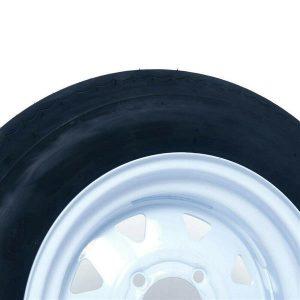 P811 5.30-12 LRC Bias qty1 Trailer Tire on 12 Inch 4 Lug1050 LBS @ 80 PSI