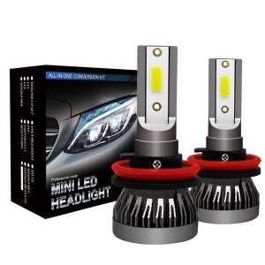 1 Pair H11 Headlight Coversion LED Bulb Kit Low Beam for 2017 Subaru Forester