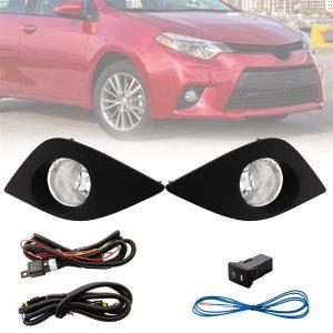 1 Pair Fog Light (Left & Right) for 2014-2016 Toyota Corolla Lamps&Bulbs&Harness